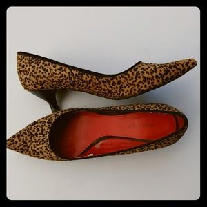 Nine West Pony Hair Leopard Print Heel
